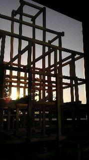 「粟田神社大燈呂制作」大燈呂の木組み